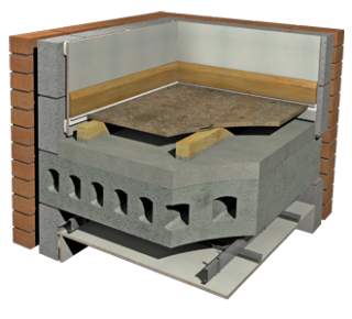 Econocheck Shallow Batten Suspended System For Level Concrete
